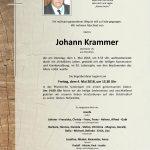 Nachruf Johann Krammer